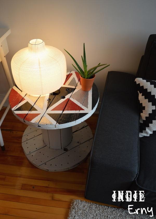 DIY – La table bobine  Indieerny -> Customiser Une Bobine De Cable